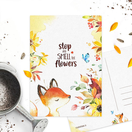 Studiodraak Studiodraak - Flower vosje - Bloemen