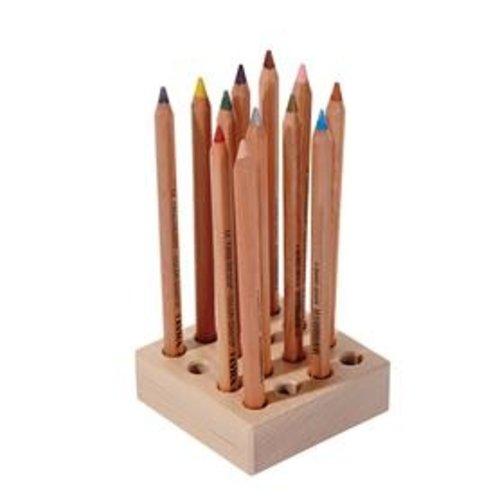 Hout & Plezier Potlodenblok, voor 16 dikke potloden