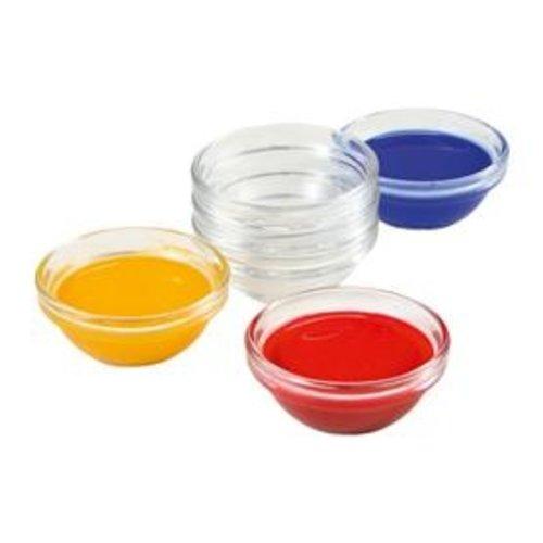 Hout & Plezier Glazen verfschaaltjes 6 stuks