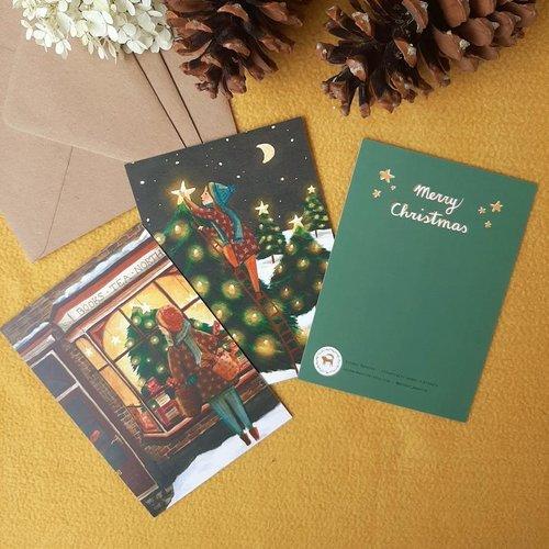 Esther Bennink Esther Bennink - Kerstkaarten - Set van 3 stuks met envelop