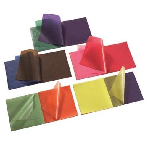 Hout & Plezier Vliegerpapier set 100 vel 11 kleuren 22x22 cm