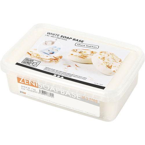 Hout & Plezier Shea Boter Zeepbasis, Wit, 1 kg