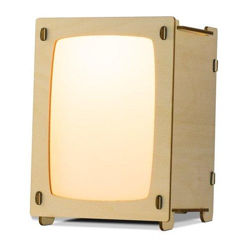 Houtlokael Ansichtkaartlamp