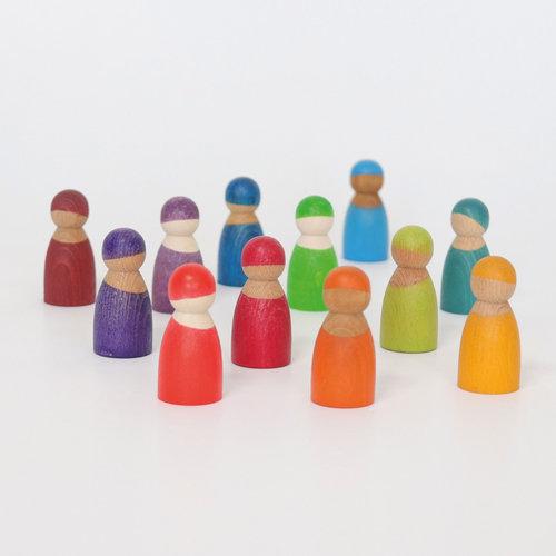 Grimms Grimms 12 Regenboog vriendjes in een kratje