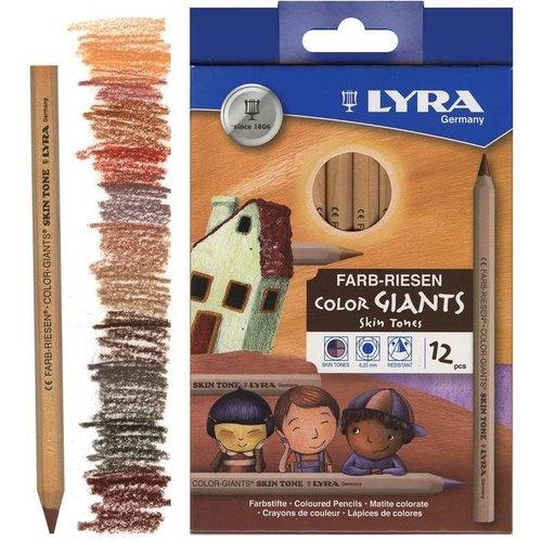 Stockmar Lyra Super Ferby - 12 stuks - kleurpotloden huidskleuren
