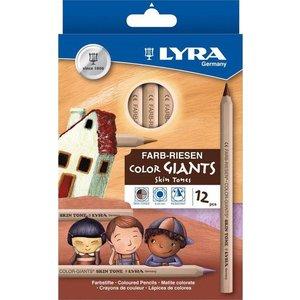 Stockmar Lyra Super Ferby Huidskleuren - 12 stuks - kleurpotloden