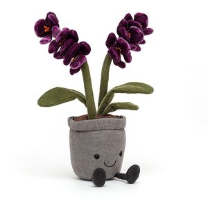 Jellycat Knuffels Jellycat Amuseable Orchid - Paarse Orchidee
