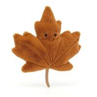 Jellycat Woodland Maple Leaf - Herfstblad klein