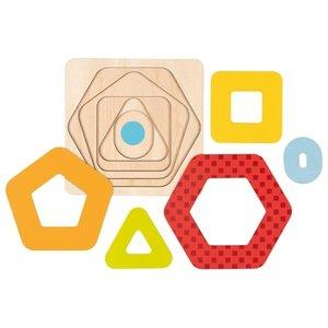 Goki Goki houten vormen puzzel