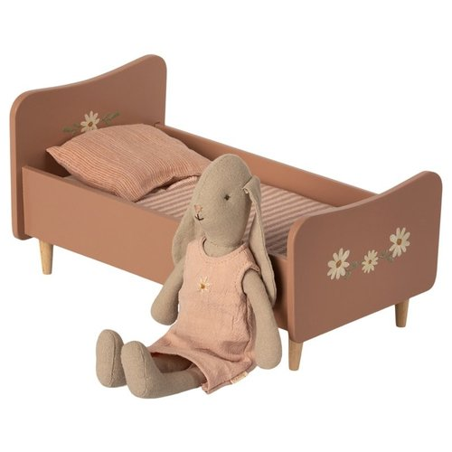 Maileg Maileg Houten Bed - Roze