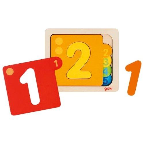 Goki Goki houten cijfer puzzel