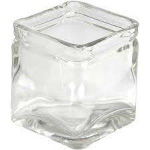 Hout & Plezier Vierkant glas