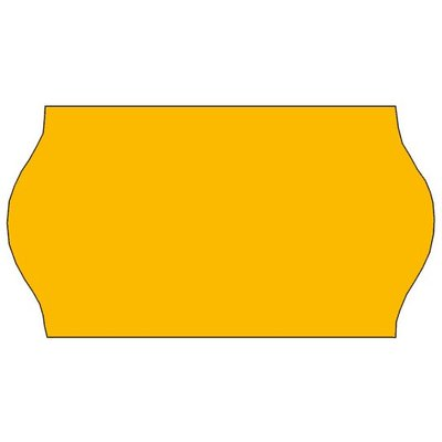 Tovel Prijsetiketten fluor oranje 22x12mm  (42x1500 stuks)