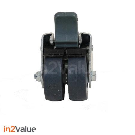 In2Value Wielen voor klanten scherm polycarbonaat RVS frame