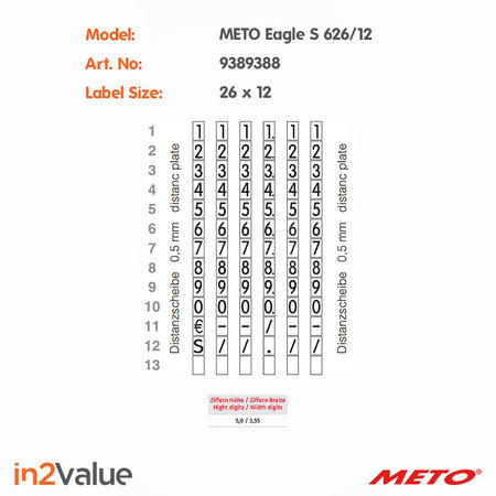 METO Meto Eagle Prijsapparaat, type S 626/12