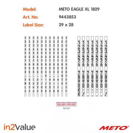 METO Eagle Prijsapparaat, type XL 1829 Giant