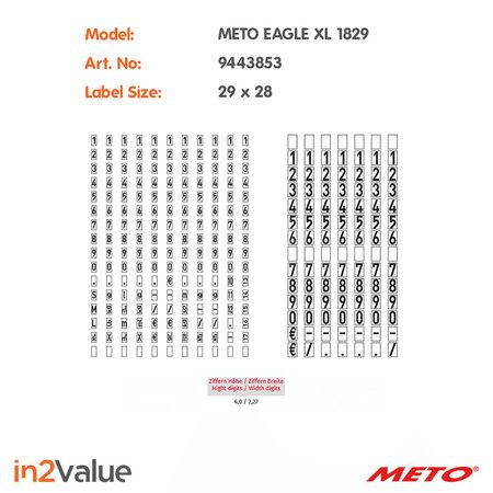 METO Meto Eagle Prijsapparaat, type XL 1829 Giant