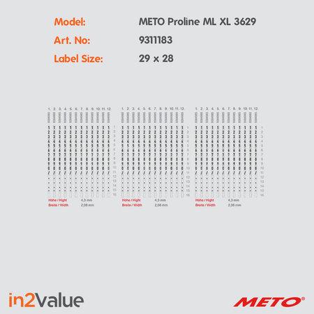 METO Pro Line Prijsapparaat, type XL 3629 Medical Line