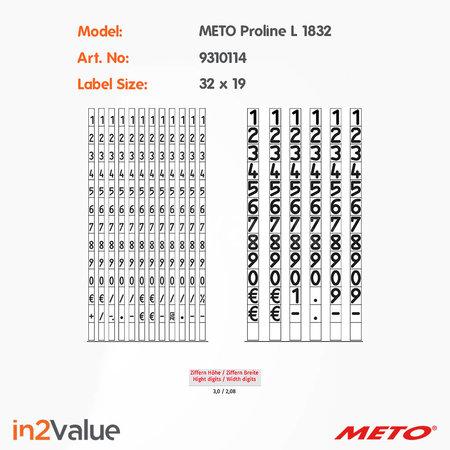 METO Meto ProLine Prijsapparaat, type L 1832