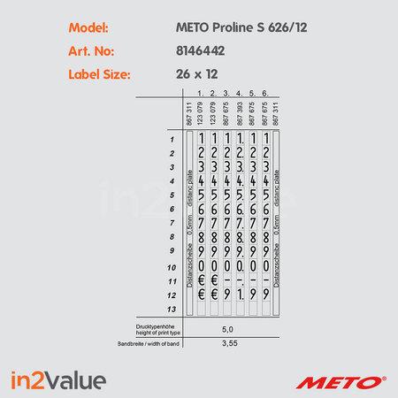 METO Meto ProLine Prijsapparaat, type S 626