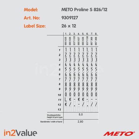 METO B2B - Meto ProLine S 826 + 2 dozen  etiketten + strip inkt