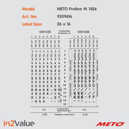 METO B2B - Meto ProLine M 1426 + 2 dozen etiketten + strip inkt