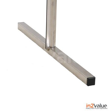 In2Value Preventiescherm onbreekbaar staand model 1900x1000mm RVS frame