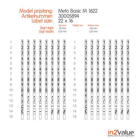 METO Meto Basic Prijsapparaat, type M 1622