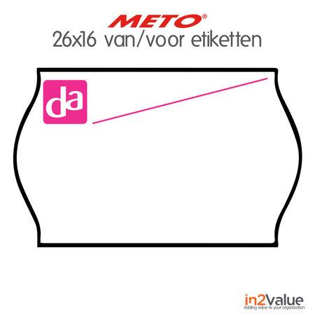 METO Meto DA Etiketten wit 26x16mm afneembaar Van/Voor (18x1200 stuks)