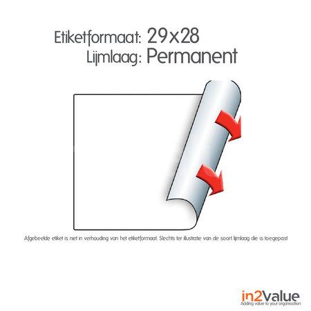 METO Meto Classic etiketten wit 29x28mm permanente lijmlaag (5x1000 stuks)