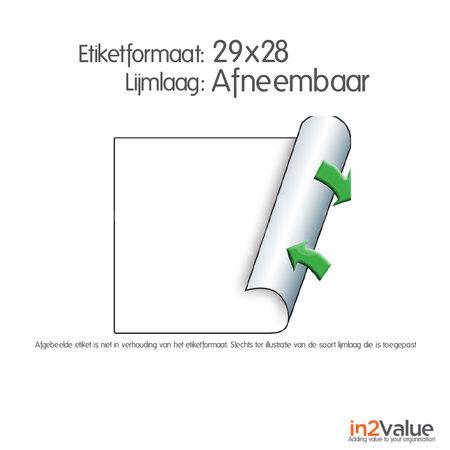METO Meto Classic etiketten wit 29x28mm afneembare lijmlaag (5x1000 stuks)