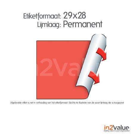 METO Meto Classic etiketten fluor rood 29x28mm permanente lijmlaag (5x1000 stuks)