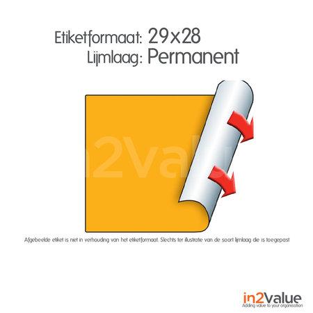 METO Meto Classic etiketten fluor oranje 29x28mm permanente lijmlaag (5x1000stuks)