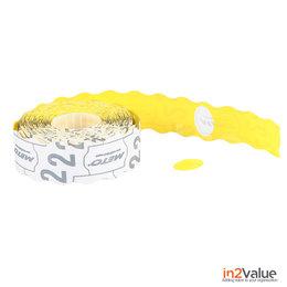 METO Meto Prijsetiketten Ovaal geel 20x14 (26x16) mm (18x1200 stuks)