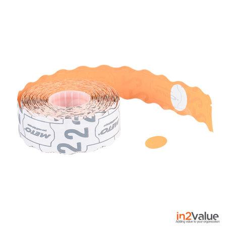METO Meto Prijsetiketten Ovaal oranje 20x14 (26x16) mm (36x1200 stuks)