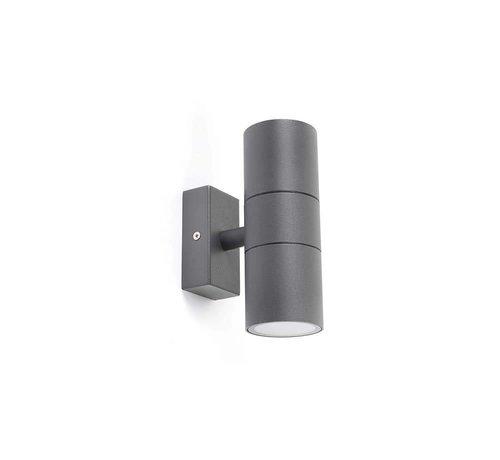 QAZQA Wandlamp Duo donker grijs