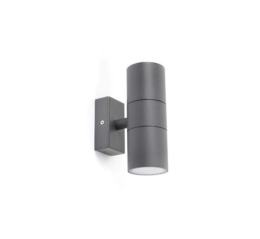 Wandlamp Duo donker grijs