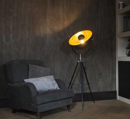 QAZQA Vloerlamp Magna 50 mat zwart