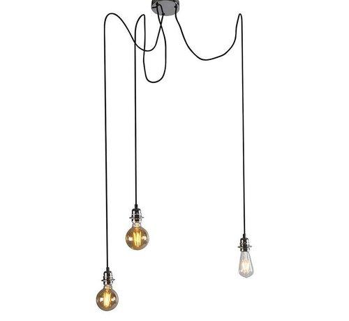 QAZQA Hanglamp Cava 3 Chroom