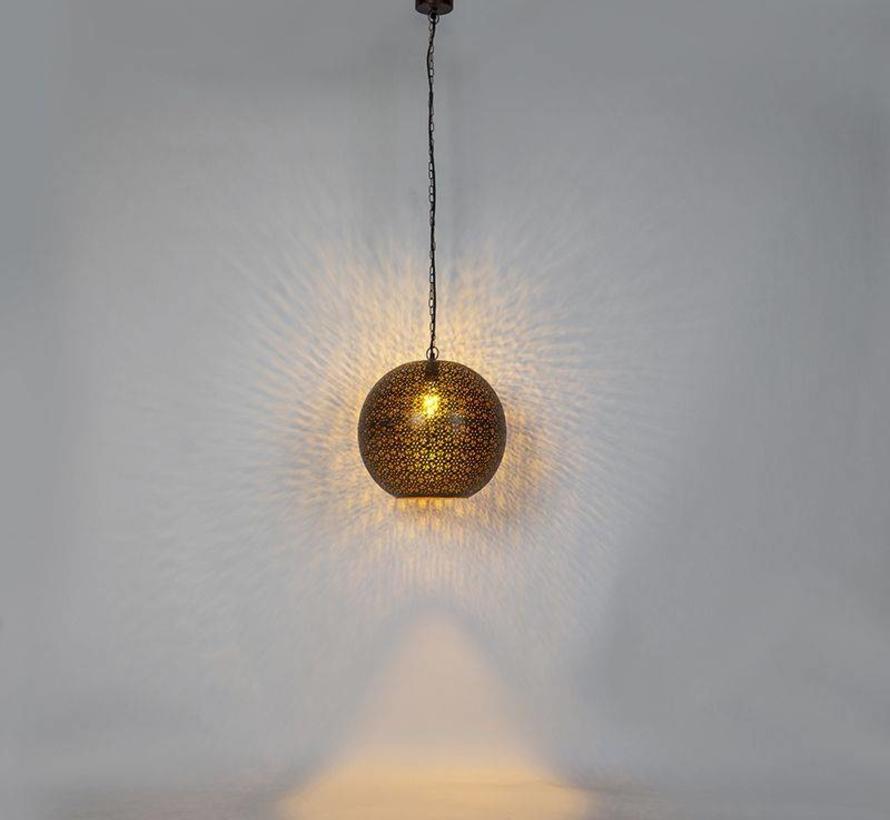Hanglamp Vintage Maruf Rond Koper