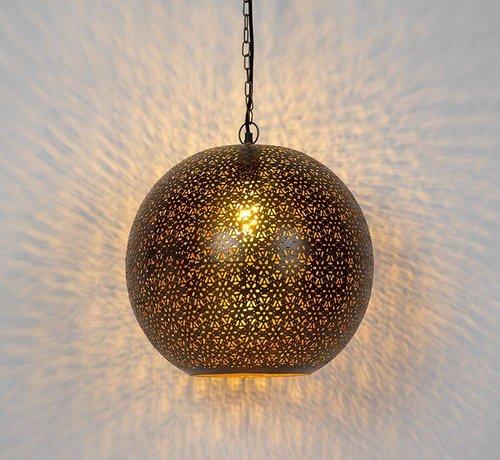 QAZQA Hanglamp Vintage Maruf Rond Koper