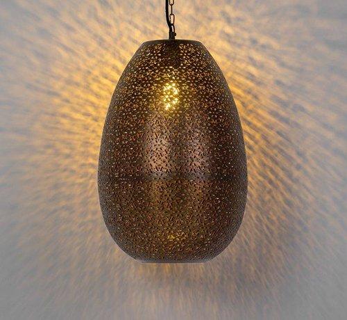 QAZQA Hanglamp Vintage Maruf Ovaal Koper