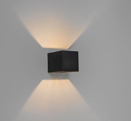 QAZQA Wandlamp Transfer Zwart