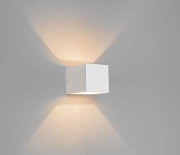 QAZQA Wandlamp Transfer Wit