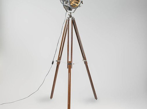 QAZQA Vloerlamp Tripod Beam Chroom