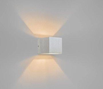 QAZQA Wandlamp Transfer Aluminium