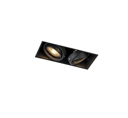 QAZQA Trimless inbouwspot GU10 Oneon 2 Zwart