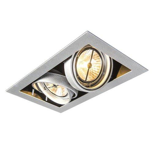QAZQA Inbouwspot Oneon 2 Zilver