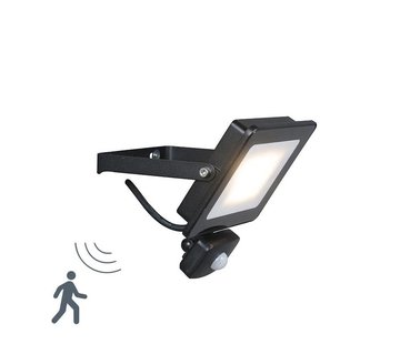 QAZQA Floodlight LED 20W Sensor