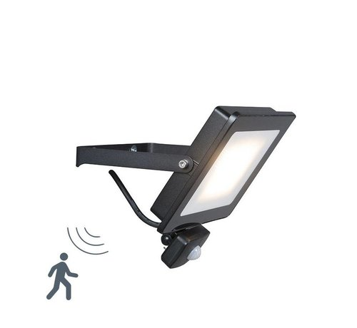 QAZQA Floodlight LED 30W met Bewegingsensor
